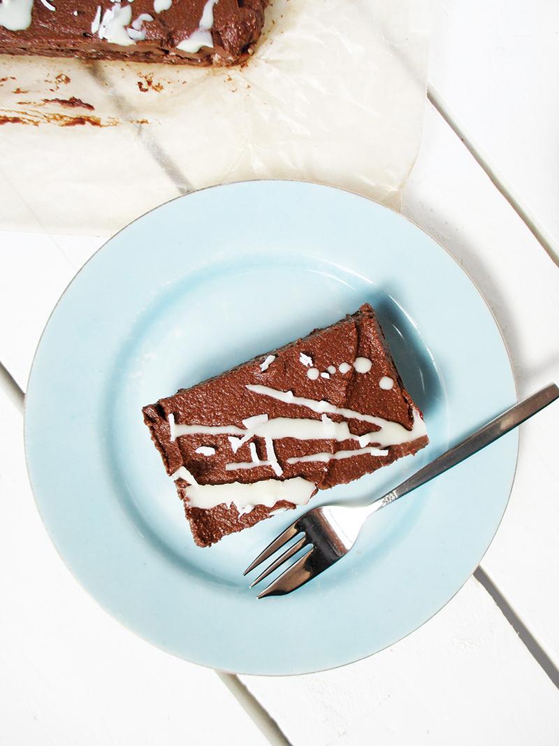 Vegan Gluten free Nut free No Bake Brownie Slice Recipe 2