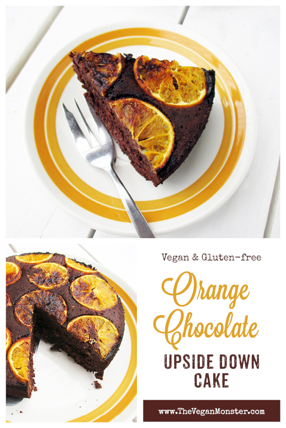 Vegan Gluten free Upside Down Orange Chocolate Cake Without Refined Sugar Recipe P