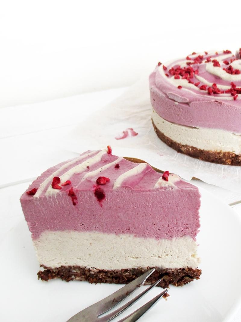 Vegane Glutenfreie Nix Backen Himbeer Vanille Torte Fruchtgesuesst Ohne Milch Rezept 5