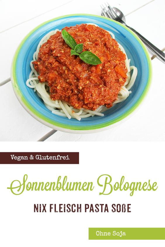 Vegane Glutenfreie Nix Fleisch Sonnenblumen Spaghetti Pasta Sosse Rezept 3