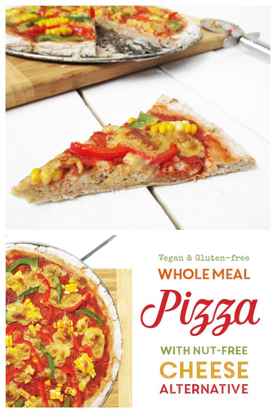 Vegan Gluten free Whole Meal Pizza With Nut free Vegan Cheese Alternative Recipe P