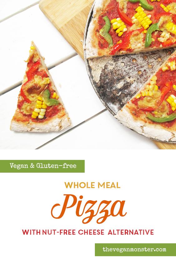 Vegan Gluten free Whole Meal Pizza With Nut free Vegan Cheese Alternative Recipe P2