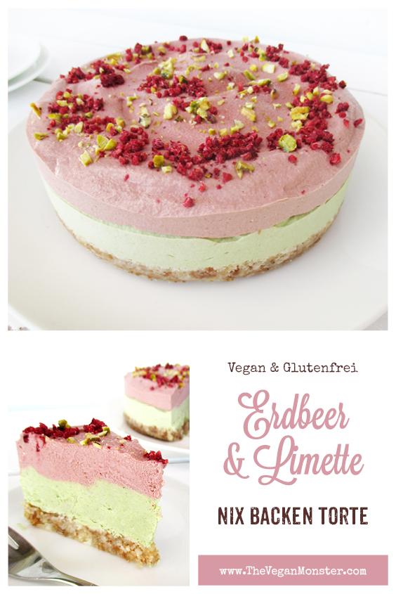 Vegane Glutenfreie Fruchtgesuesste Nix Backen Erdbeer Limette Torte Rezept P1