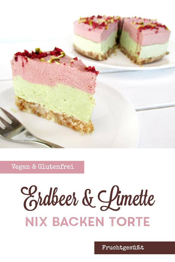 Vegane Glutenfreie Fruchtgesuesste Nix Backen Erdbeer Limette Torte Rezept P2