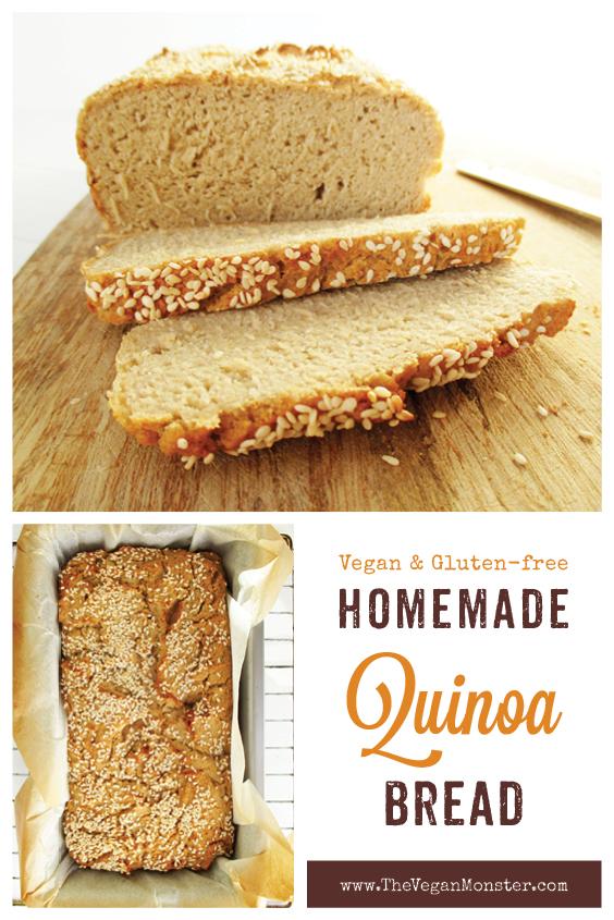 Vegan Gluten free Dairy free Quinoa Bread Recipe P