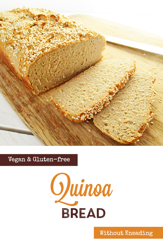 Vegan Gluten free Dairy free Quinoa Bread Recipe P2