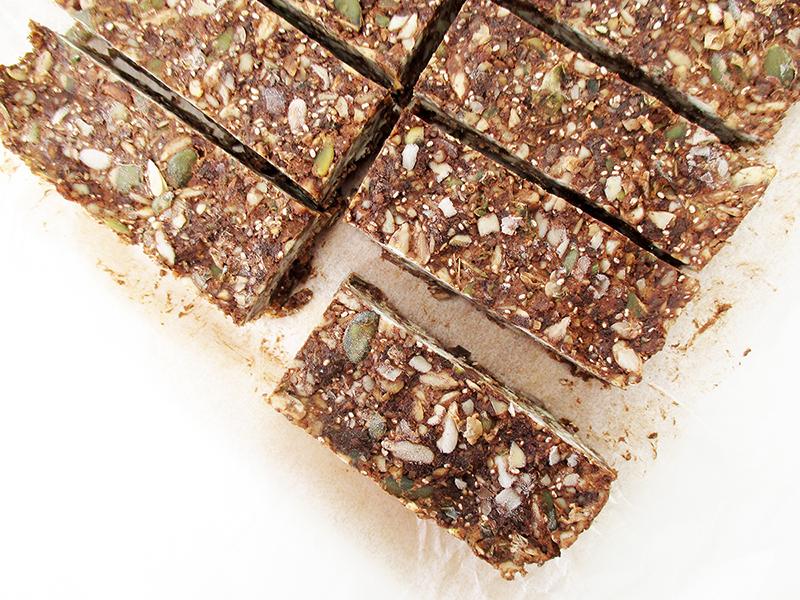 Vegan Gluten free No Bake Chocolate Energy Musli Bars Recipe 1