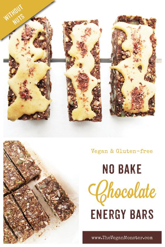 Vegan Gluten free No Bake Chocolate Energy Musli Bars Recipe P