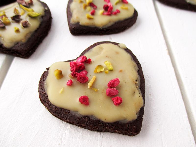 Vegan Gluten free Refined Sugar Free Chocolate Valentines Cookies Recipe 0