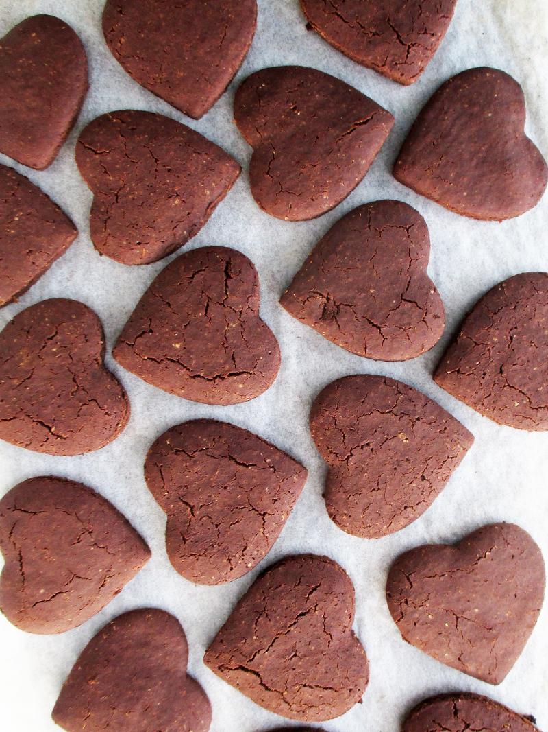 Vegan Gluten free Refined Sugar Free Chocolate Valentines Cookies Recipe 00