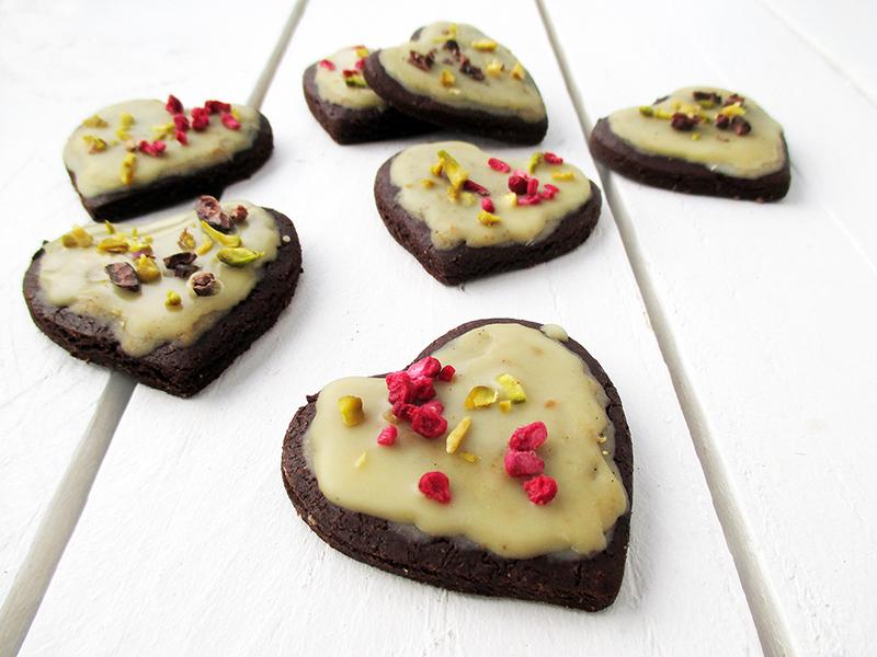 Vegan Gluten free Refined Sugar Free Chocolate Valentines Cookies Recipe 2
