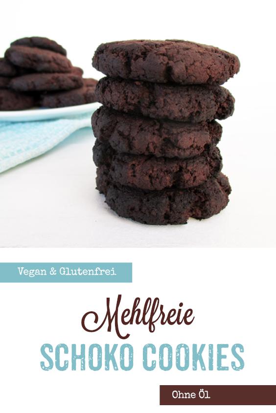 Vegane Glutenfreie Dunkle Schoko Kekse Cookies Ohne Mehl Ohne Kristallzucker Rezept P2