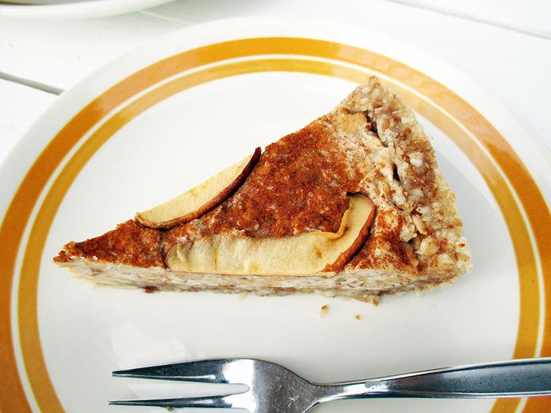 No Bake Raw Vegan Gluten free Dairy free Apple Cinnamon Tart Recipe 1