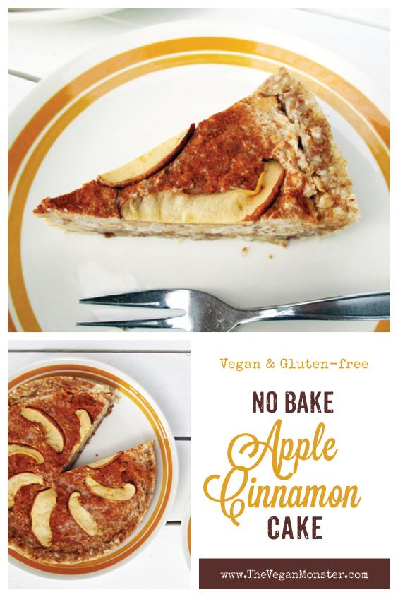 No Bake Raw Vegan Gluten free Dairy free Apple Cinnamon Tart Recipe P