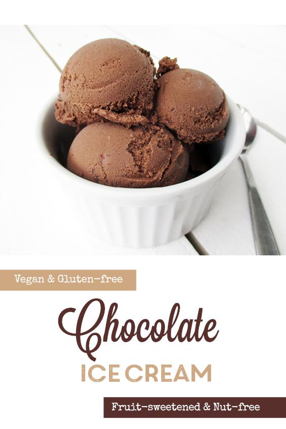 Vegan Gluten free Dairy free Nut free Fruit Sweetened Chocolate Ice Cream Recipe P3