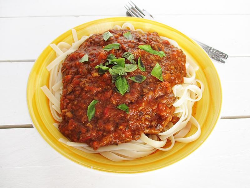 Vegan Gluten free Meat free Soy free Nut free No Tomato Bolognese Sauce Recipe 3