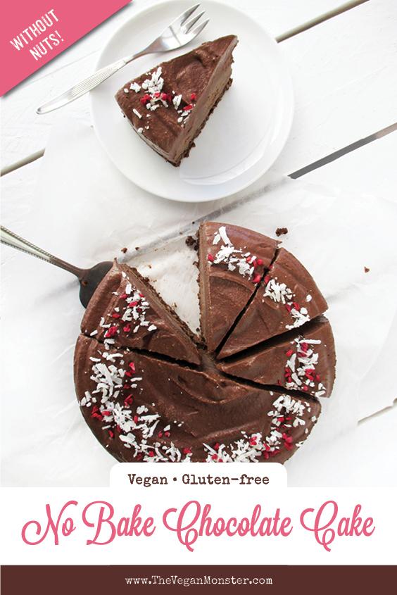 Vegan Gluten free Nut free Dairy free No Bake Raw Double Chocolate Cake Recipe P2