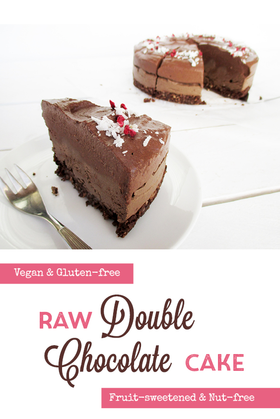 Vegan Gluten free Nut free Dairy free No Bake Raw Double Chocolate Cake Recipe P6