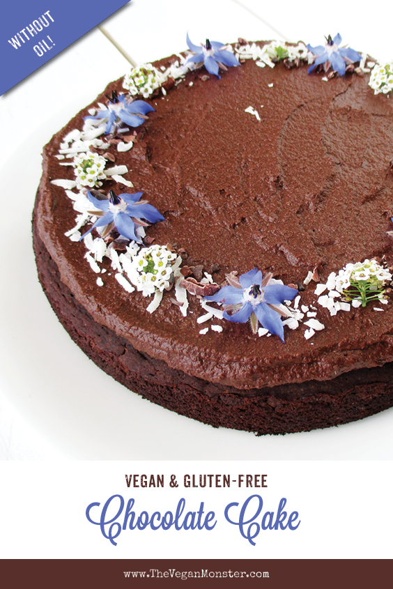 Vegan Gluten fre Dairy free Egg free Chocolate Cake Without Refined Sugar Without Oil Recipe P