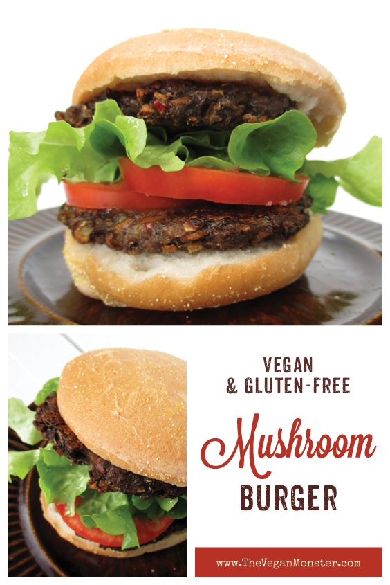 Vegan Gluten free Oil free Low Fat Mushroom Burger Recipe P2