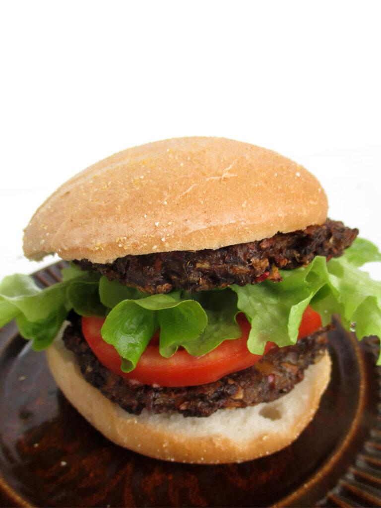 Veganer Glutenfreier Pilz Burger Bratling Rezept
