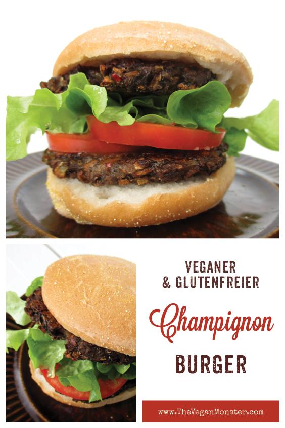 Veganer Glutenfreier Pilz Burger Bratling Rezept P2