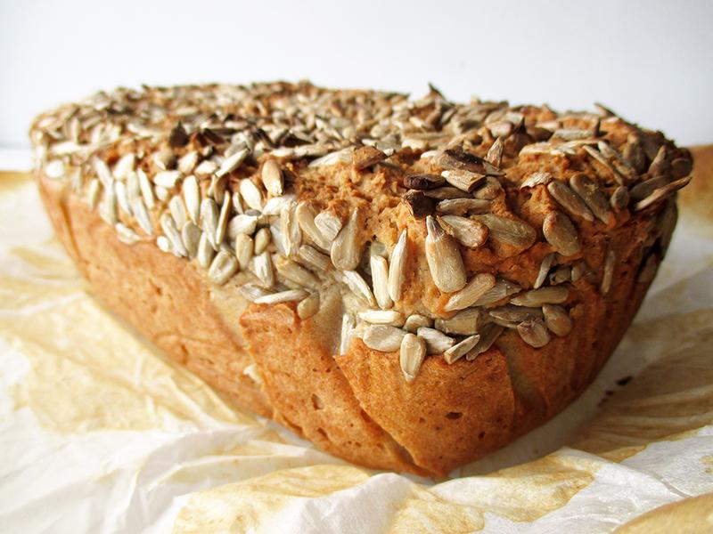 Vegan Gluten free Dairy free Egg free Oil free Sunflower Seed Bread Recipe 1