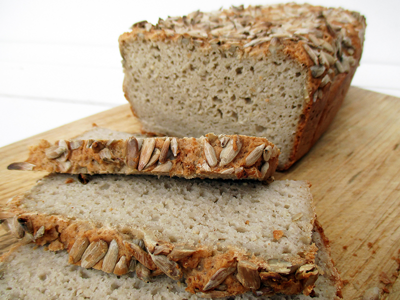 Vegan Gluten free Dairy free Egg free Oil free Sunflower Seed Bread Recipe 4