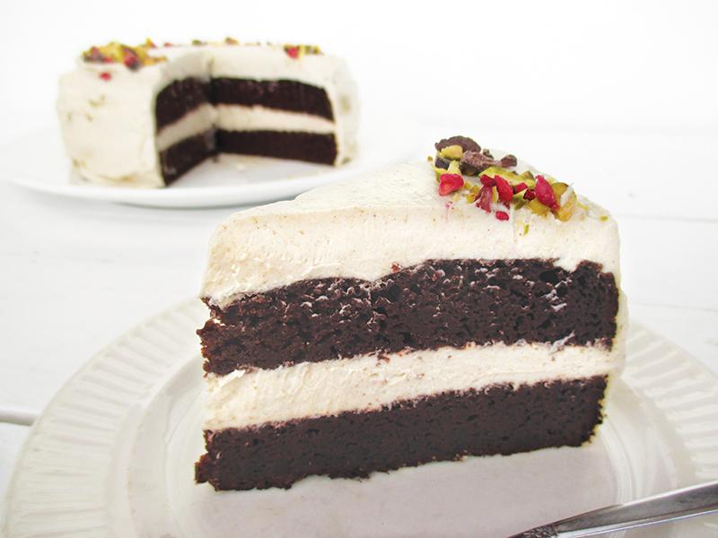 Vegan Gluten free Dairy free Oil free Chocolate Cake With Super Creamy Vanilla Frosting Recipe 3