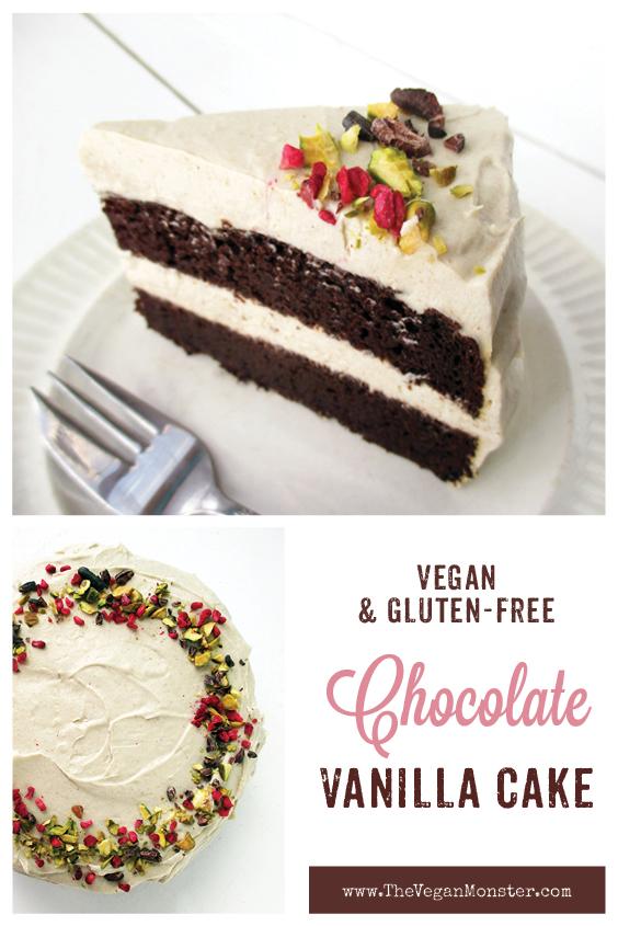 Vegan Gluten free Dairy free Oil free Chocolate Cake With Super Creamy Vanilla Frosting Recipe P