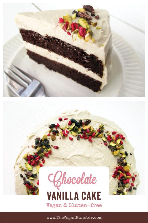 Vegan Gluten free Dairy free Oil free Chocolate Cake With Super Creamy Vanilla Frosting Recipe P2