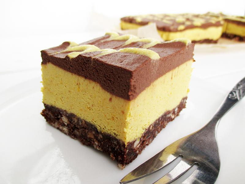 Vegan Gluten free Raw No Bake Orange Chocolate Cake Slices Recipe 4
