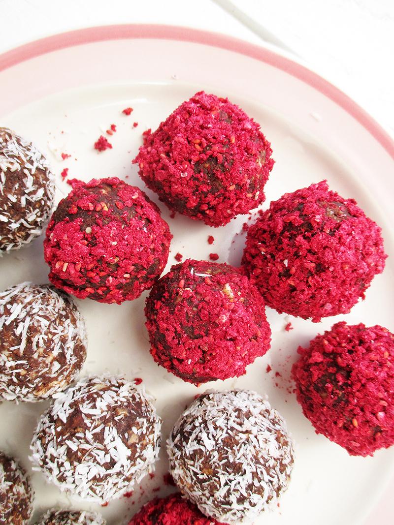 Vegan Gluten free Refined Sugar Free Bliss Balls Energy Recipe 1