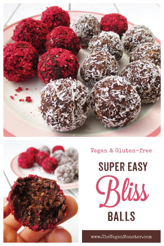 Vegan Gluten free Refined Sugar Free Bliss Balls Energy Recipe P