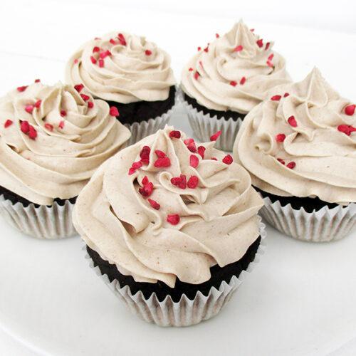 Vegane Glutenfreie Milchfreie Eifreie Nuss Milch Mehl Schokoladen Muffins Mit Vanille Creme Haeubchen Ohne Soja Ohne Zucker Rezept 2 1