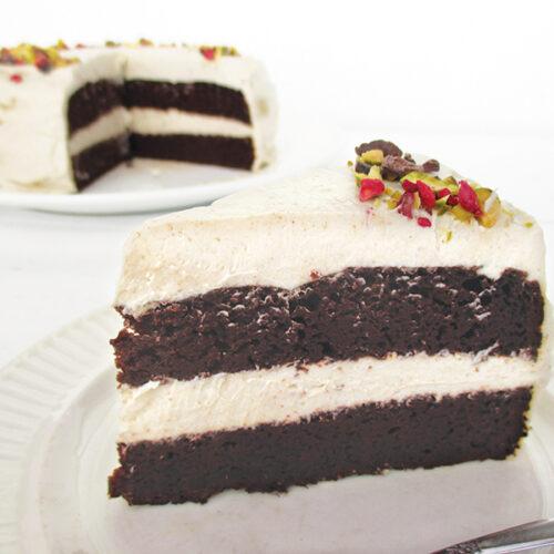 Vegane Glutenfreie Schoko Torte Mit Vanille Butter Creme Ohne Milch Ohne Haushaltszucker Rezept 2 1