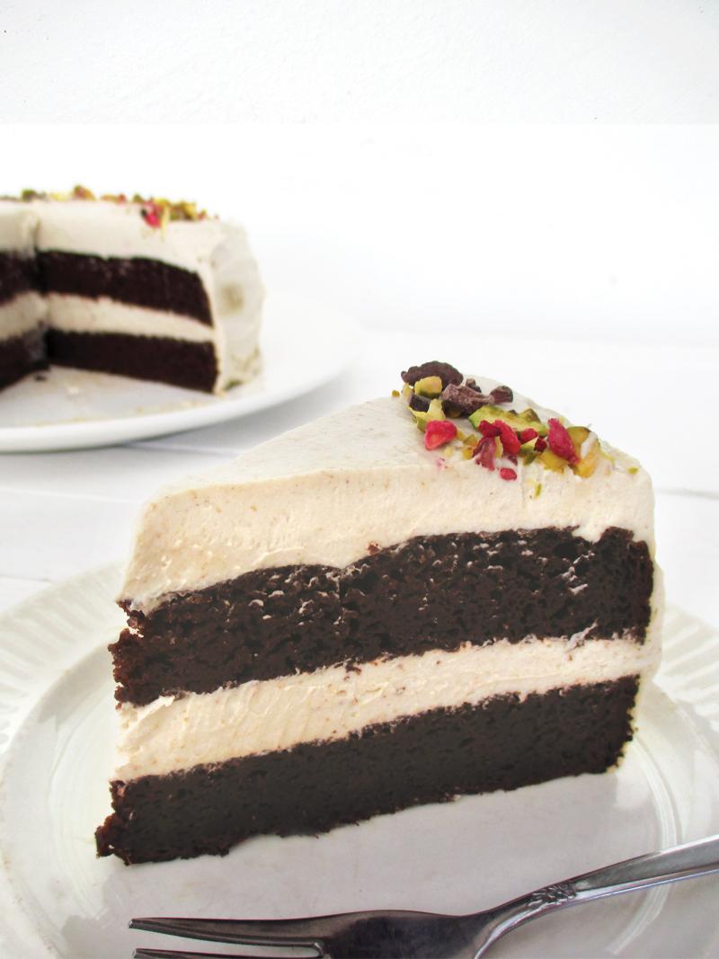 Vegane Glutenfreie Schoko Torte Mit Vanille Butter Creme Ohne Milch Ohne Haushaltszucker Rezept 4