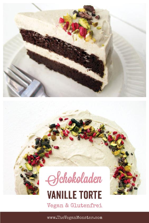 Vegane Glutenfreie Schoko Torte Mit Vanille Butter Creme Ohne Milch Ohne Haushaltszucker Rezept P2