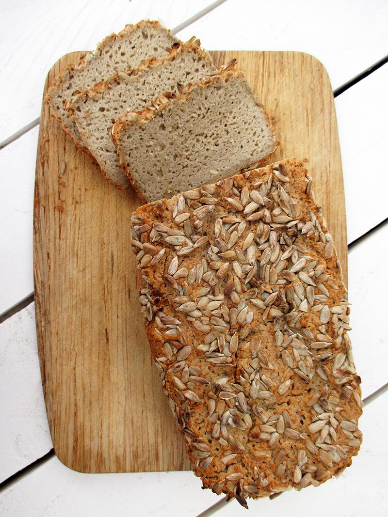 Veganes Glutenfreies Milchfreies Eifreies Sonnenblumenkern Brot Rezept Ohne Oel 3