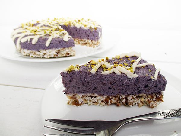 07 Vegan Gluten free No Bake Berry Cake Recipe Without Refined Sugar Rezept 1