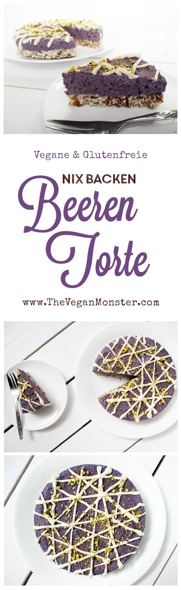 vegane glutenfreie nix backen beeren torte ohne zucker rezept