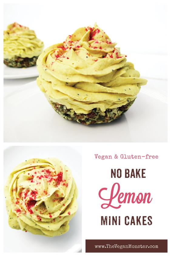No Bake Vegan Gluten free Dairy free Lemon Poppy Seed Cake Tartlets Recipe P