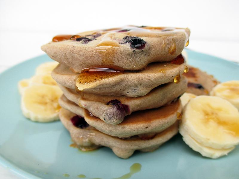 Vegan Gluten free Egg free Dairy free Sugar free Blueberry Banana Pancakes Recipe 0