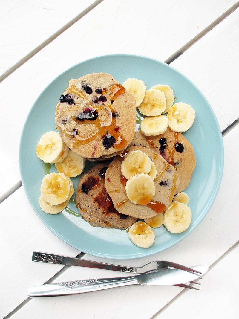 Vegan Gluten free Egg free Dairy free Sugar free Blueberry Banana Pancakes Recipe 1