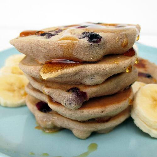Vegane Glutenfreie Blaubeer Bananen Pfannkuchen Ohne Zucker Ohne Milch Ohne Ei Rezept 0 1