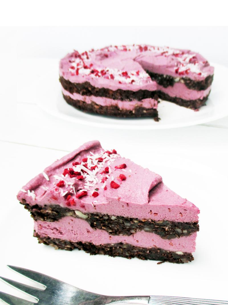 Vegan Himbeer Schokoladen Torte