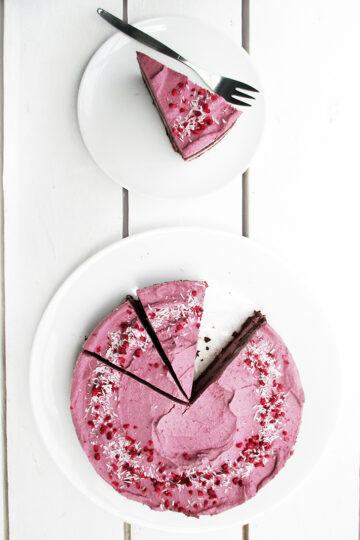 Nix Backen Himbeer Schokoladen Torte Vegan Glutenfrei Ohne Milch Ohne Eier Rezept 1 1