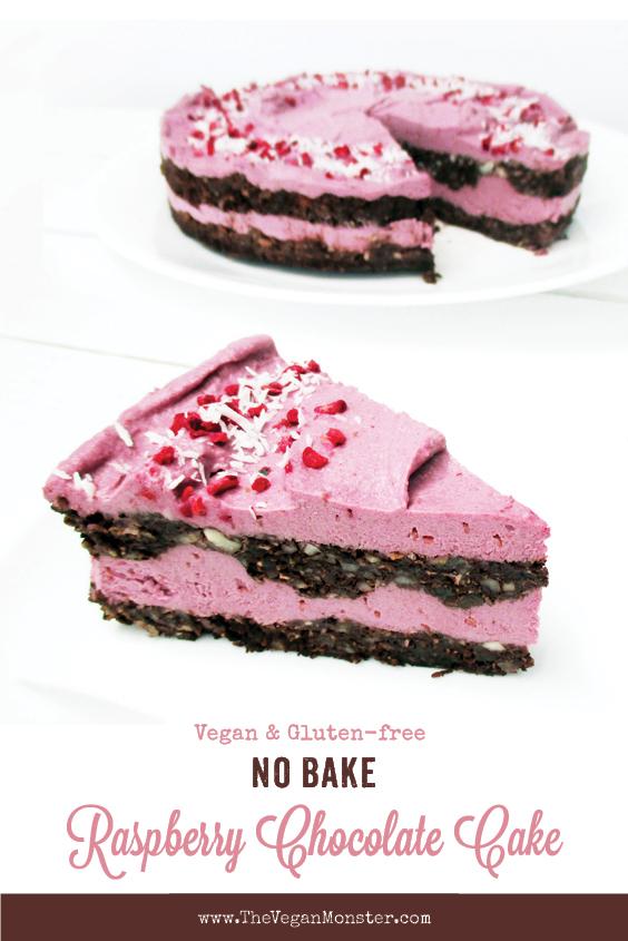 No Bake Raspberry Vanilla Cake Torte Vegan Gluten free Dairy free Egg free Recipe P2