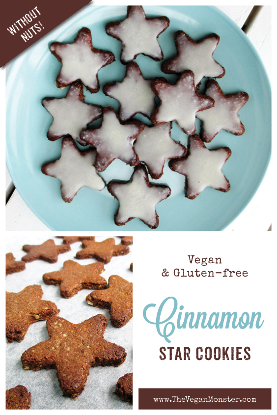 Vegan Gluten free No Refined Sugar Egg free Christmas Cinnamon Cookies Recipe P