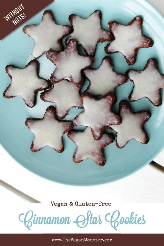 Vegan Gluten free No Refined Sugar Egg free Christmas Cinnamon Cookies Recipe P2